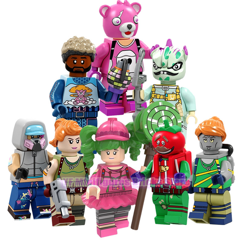 Game Fortnight Building Blocks Action Figure Zoey Cuddle Team Leader Leviathan Tomatohead Brite Gunner Toys Compatible Legoed