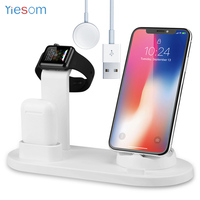 3IN1 Charging Dock Station Stand Holder for iPhone X XR XS Max Apple watch Airpods Charger Stand For Apple Watch Series 1 2 3 4