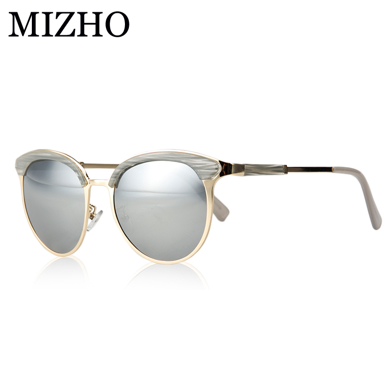 b741a7c409 MIZHO Vidrio Metal Star Polarized Sunglasses Women Cat eye Vintage UVA  Polaroid Sunglass Protector Mirror Original Case 2019-in Sunglasses from  Apparel ...