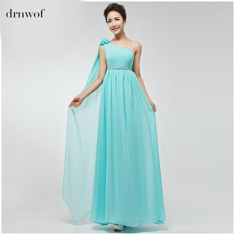 Drnwof Party Bridesmaid Dresses 2017 New Brand Chiffon Long Women Bridal Prom Gown Plus Size Dress Royal Blue Orange Pink Red In From