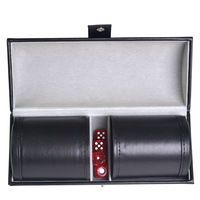 New trade 2 leather color cup suit flannelette high end Dice cup