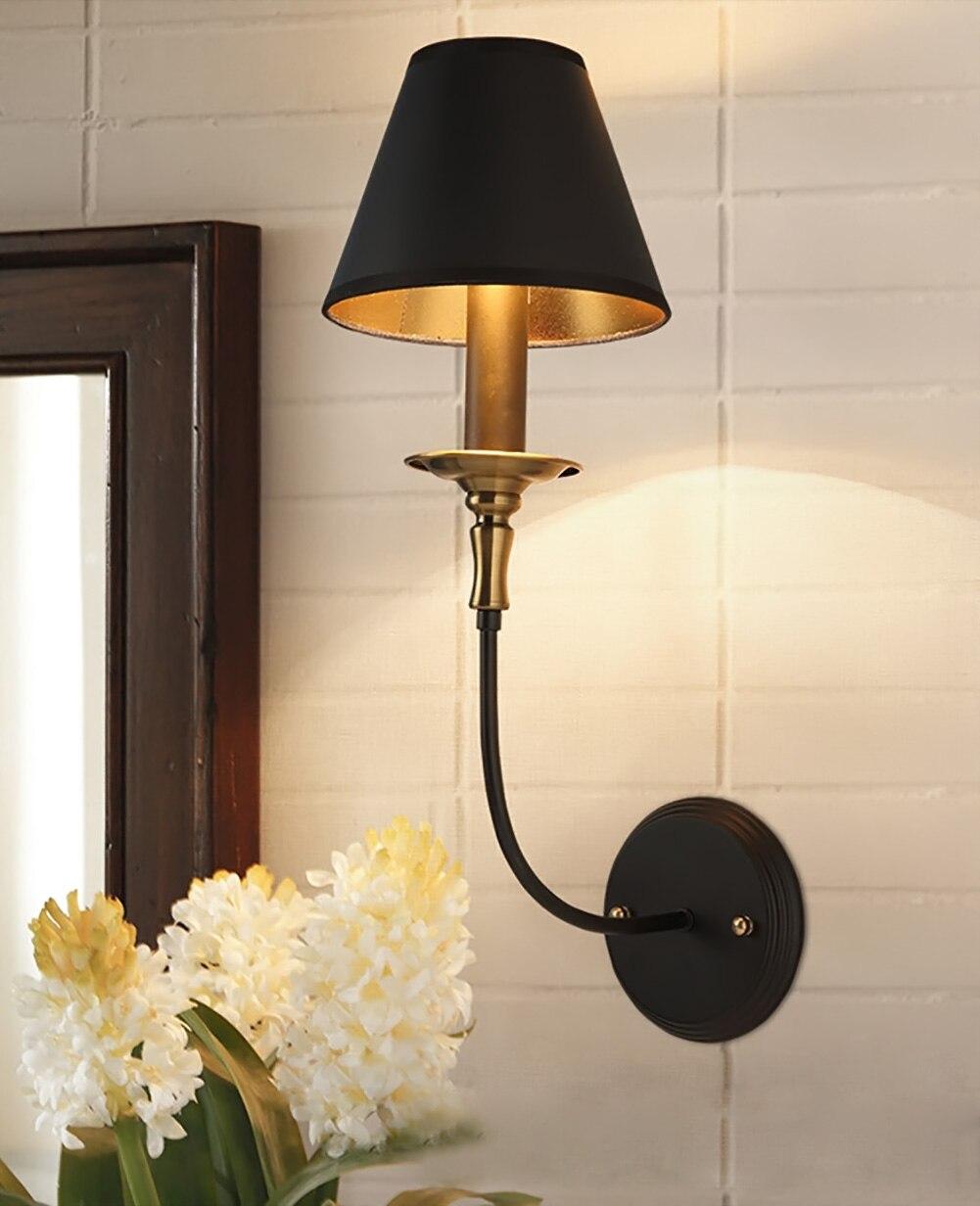 ФОТО Lamp Light American Vintage Industrial Wall Lamp Bedroom Wall Light Bar Decoration Light Coffee Shop Light