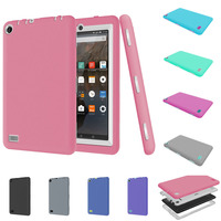 For Amazon Kindle Fire 7 2015 Case Baby Shockproof Kids Protector Cover PC + Silicone Hybrid Robot Protect + Stylus Pen