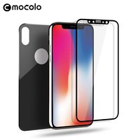 Mocolo 9H Full Cover Front Back 1 Set 3D Curved Tempered Glass 3D Screen Protector For