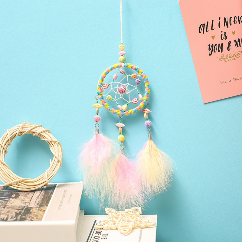 Plush Wall Stuff Imported From Abroad Handmade Decorative Rattan Dream Catcher Wall Hanging Dreamcatcher Feather Crafts Kids Stuff Wall Room Home Decor Wind Chimes Toys & Hobbies