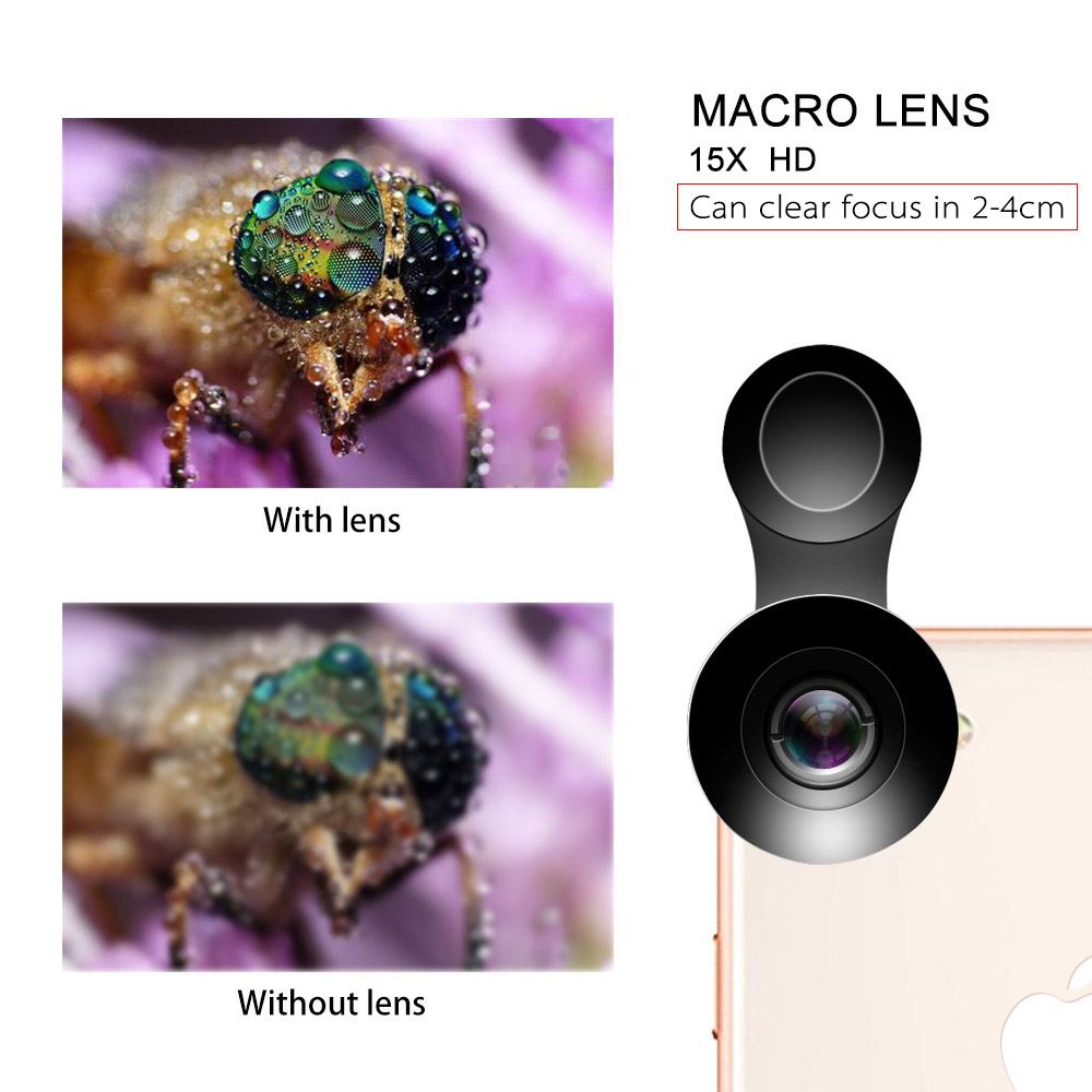 Image 5 - Flower Bud 5K HD Phone Lens Wide Angle Macro Lens No Distortion 0.45X Professional 2 in 1 Camera for Smartphone iPhone Mobile-in Mobile Phone Lens from Cellphones & Telecommunications