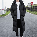 Men's Winter Jackets Warm X-Long Casual Parkas Brand Thick Cotton Coats Fashion Stand Collar Parka Male Handsome Jacket