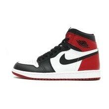 online store 627dc 72f13 Nike Air Jordan 1 dedo negro Original para hombre zapatos de baloncesto  transpirable estabilidad zapatillas de