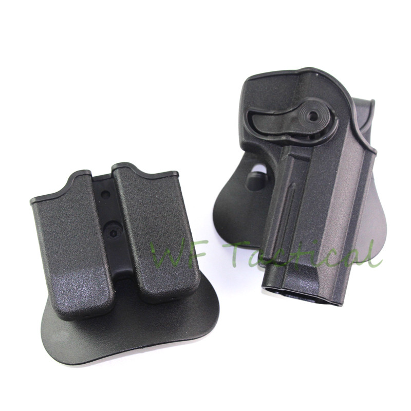 IMI DEFENSE Polymer Retention Roto Holster With  Double Magazine Holster Fits Beretta 92/96/M9
