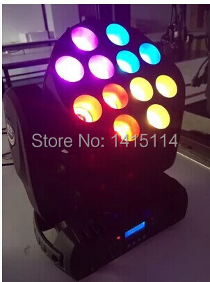 4pcs/lot lyre led beam12pcs 10w cree RGBW led beam moving head lighting ...