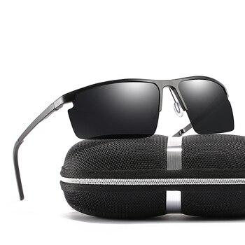 2019 rechteck Männer Polarisierte Sunglases Schwarz/Braun/Siliver Farbe Metall Rahmen UV400 Männlichen Glasse Kommen Mit box Freies verschiffen
