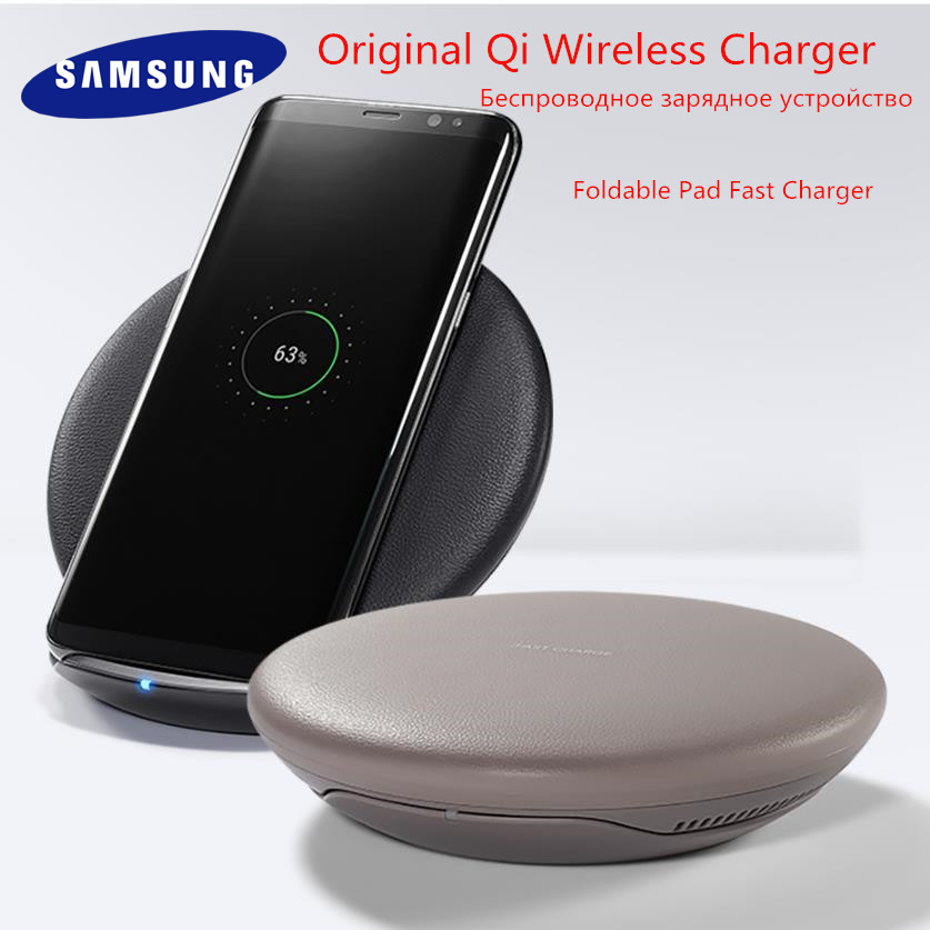Original Samsung S8 Fast Wireless Charger Qi Smart Quick Charge For iPhone X XR XS 8/Galaxy S9 S10 Plus Note 9/Huawei Mate 20pro(China)