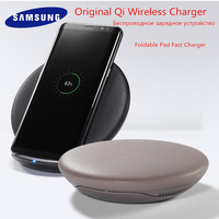 Original Samsung S8 Fast Wireless Charger Qi Smart Quick Charge For iPhone X XR XS 8/Galaxy S9 S10 Plus Note 9/Huawei Mate 20pro
