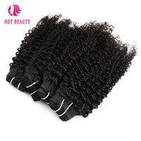 Горячие Красота волосы афро странный бразильский натуральная Инструменты для завивки волос расширения 10-24 дюймов натуральный Цвет 100% Чело...