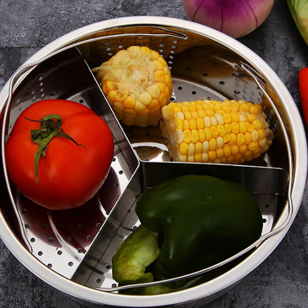SOLEDI кухонная посуда Паровая стойка Пароварка емкость из нержавеющей стали Экономичные куколные столовые принадлежности кухонная Пароварка посуда блюдо овощи