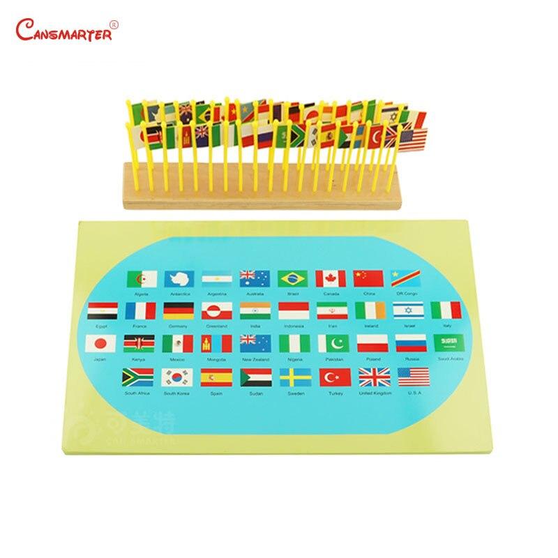 Montessori géographie monde Globe papier de verre couleur mondiale Standard enseignement jouets pour enfants éducation précoce bois matériaux GE045-NX3