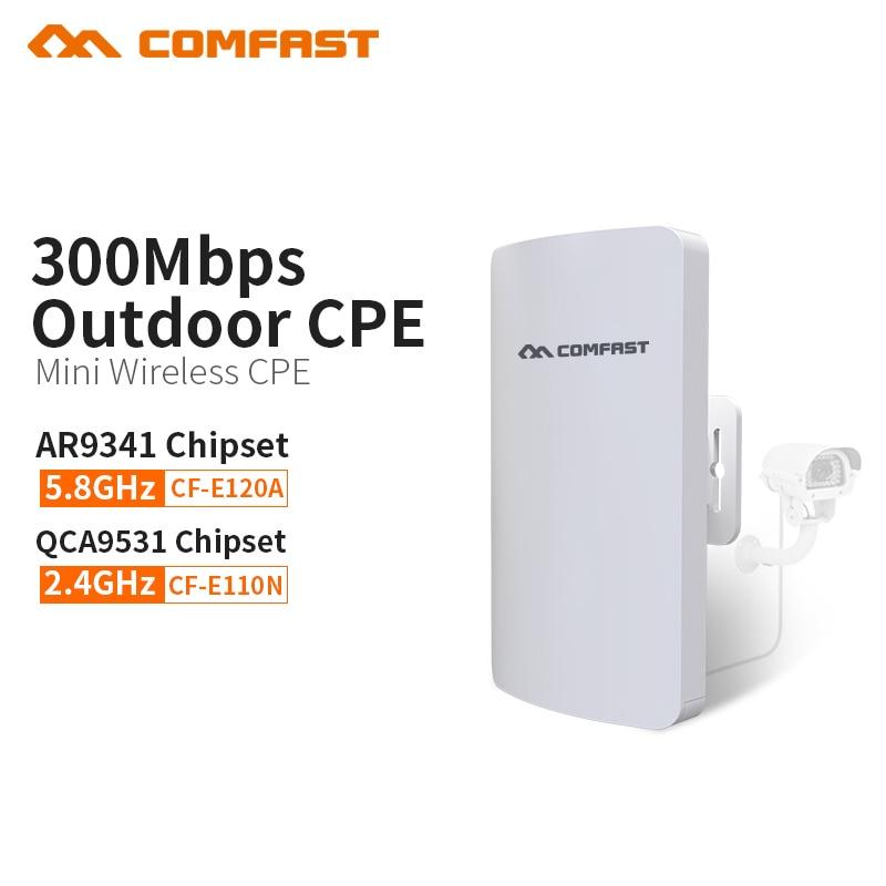 COMFAST 300Mbs Mini série sans fil pont extérieur CPE Wifi routeur répéteur AP pour le projet de caméra IP 1-2KM portée CF-E120A E110N