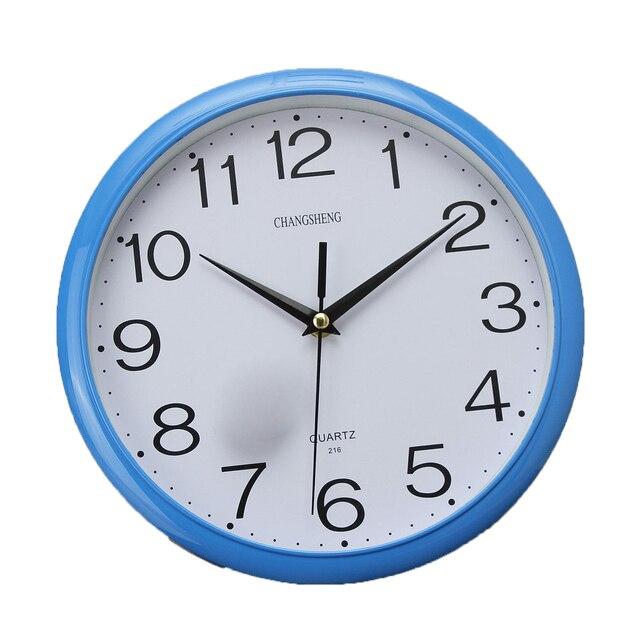 a18f27d0379 Grande Rodada Do Vintage Modern Home Quarto Tempo Retro Cozinha Relógio De  Parede De Quartzo Azul