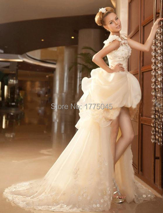 New Hot Mermaid Elegant After Short Before Long Wedding Dresses