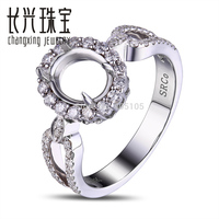 14k White Gold 6 50x8 00mm Oval Cut Natural 0 50ct Natural Diamond Ring Mounting Jewelry