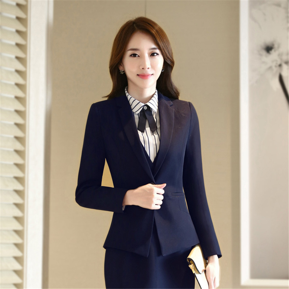 Skirt suit women spring period and the long sleeve career women's suit suits for women elegant skirt suits office uniform style