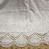 1Yard Delicate Off White Lace Fabric Skirt Cotton Cloth Embroidery Fabric Width 125cm DIY Fabric Clothing