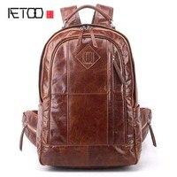 AETOO новый мужской рюкзак на плечо Повседневная кожаная модная кожаная сумка мужская Корейская версия