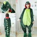 New Halloween Cosplay Traje Das Mulheres Dos Homens Pijama Onesie Dinossauro Verde do Dinossauro Trajes Para Adultos