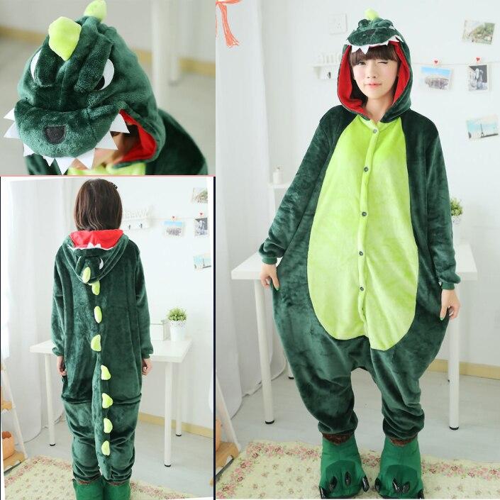 nueva hombres mujeres de halloween cosplay disfraz de dinosaurio verde onesie pijamas dinosaurio disfraces para adultos