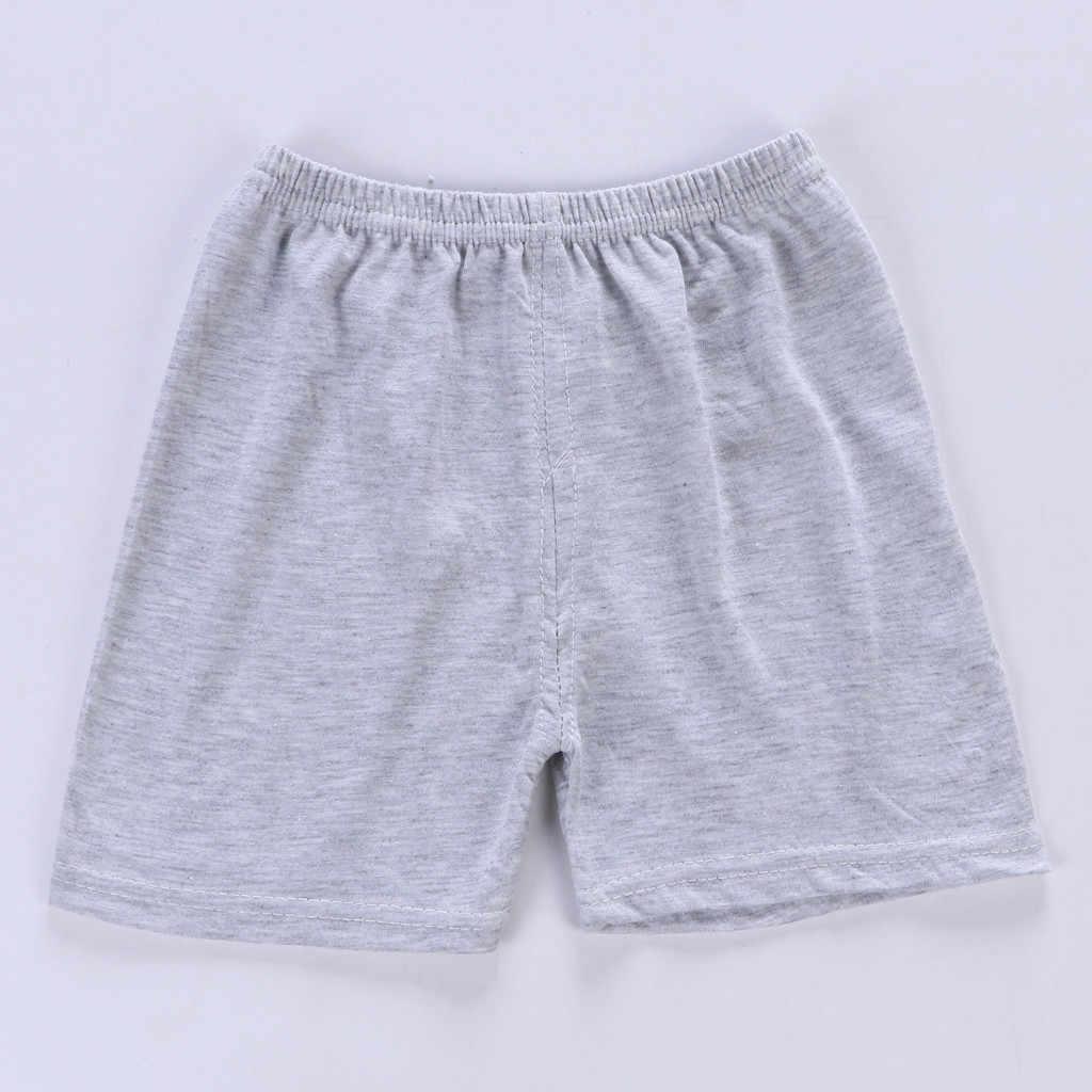 Verano 2019 algodón Casual chico trajes de cuello redondo Regular de manga corta de dibujos animados y pantalones cortos sólidos niños niño conjunto