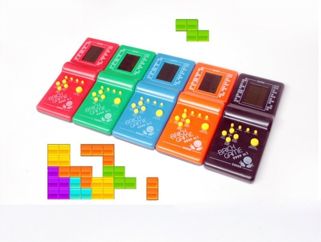 Retro Classic Childhood Tetris Handheld Game Players LCD Electronic Games Toys Game Console Riddle Educational smart electric