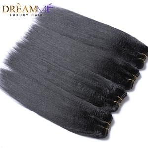Image 3 - Dreamme שיער 3 חבילות ברזילאי מסולסל אור יקי ישר שיער טבעי הארכת 100% רמי שיער Weave חבילות צבע טבעי