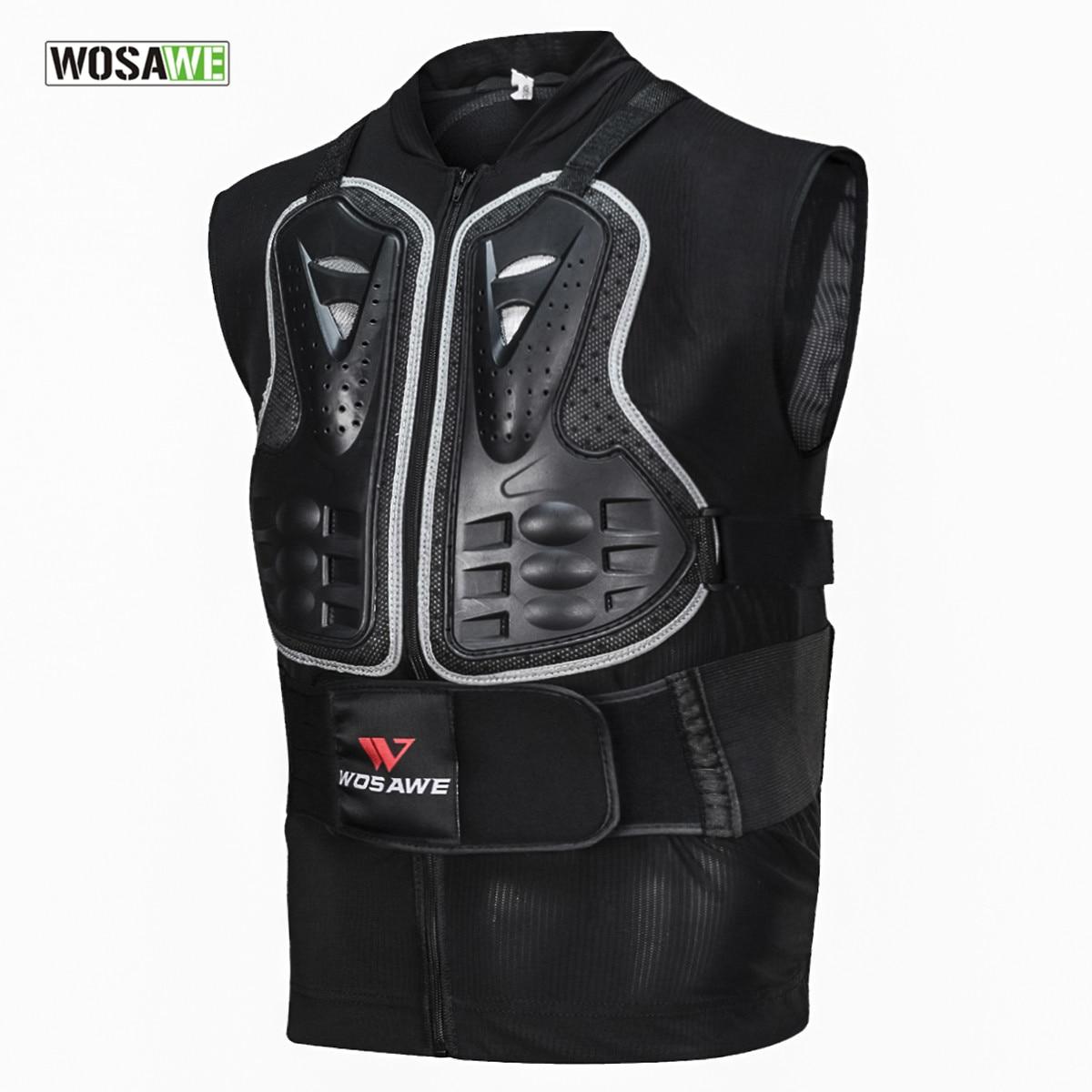 Wosawe Motorfiets Armor Vest Motocross Fietsen Apparatuur Cool Mesh Body Beschermende Off-road Racing Borst Protector Schaatsen Ski