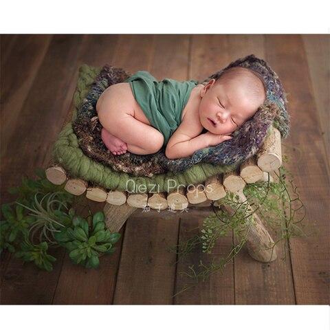 foto do bebe aderecos curvo recliner prop fotografia nacido recien natural toco de madeira macica