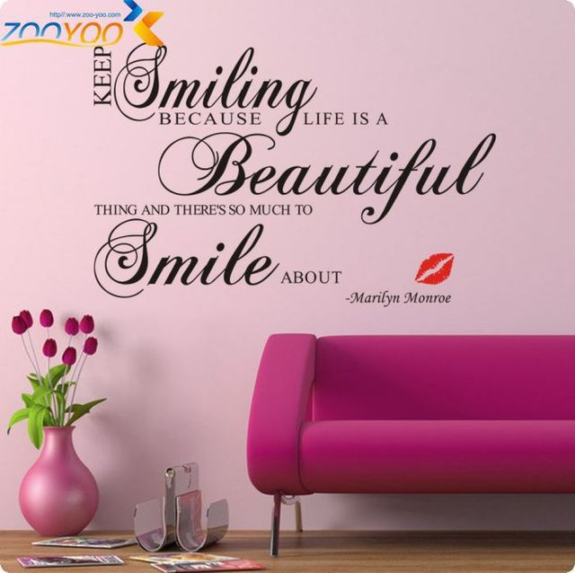 Aliexpresscom Buy Hot Sale 2016 Keep Smiling Vinyl Wall Art