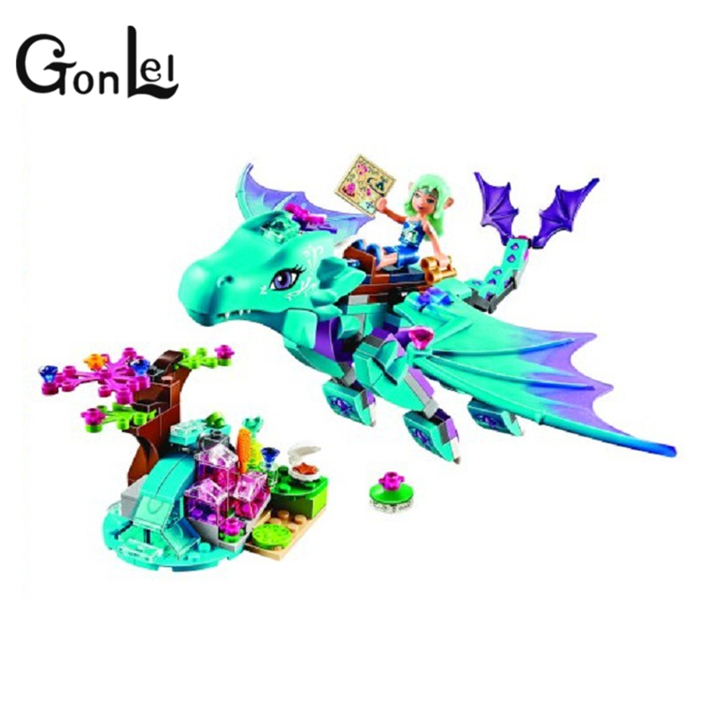 GonLeI 214pcs / set Bela 10500 Vand Dragon Adventure Building Mursten Blokke DIY Educational Legetøj Kompatible Elver 41172