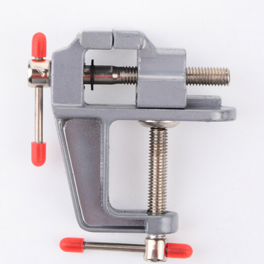 1PCS Mini Aluminum Bench Table Swivel Lock Clamp Vice Craft Jewelry Hobby Vise Wholesale