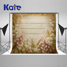 Kate 10x10ft  Retro Wood Newborn Baby Photography Backdrops Background Floral Photo Backdrop Microfiber Party Background kate newborn baby backdrops colorful chocolate beans photo sweet candy for children large size seamless photo