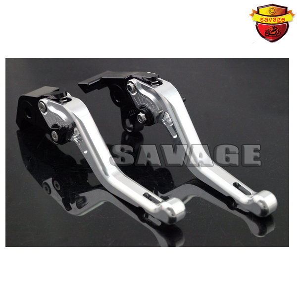 For YAMAHA MT-01 04-09, V-MAX 1700 09-15 Silver Motorcycle Accessories CNC Aluminum Short Brake Clutch Levers billet aluminum long folding adjustable brake clutch levers for yamaha mt 01 1670 04 09 05 06 07 08 v max 1700 09 14 10 11 12 13