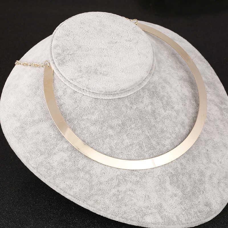 جديد بيان المختنق خمر النمط الغربي طوق البوهيمي الذهب سلسلة الرجعية قلائد النساء المجوهرات Colares بالجملة