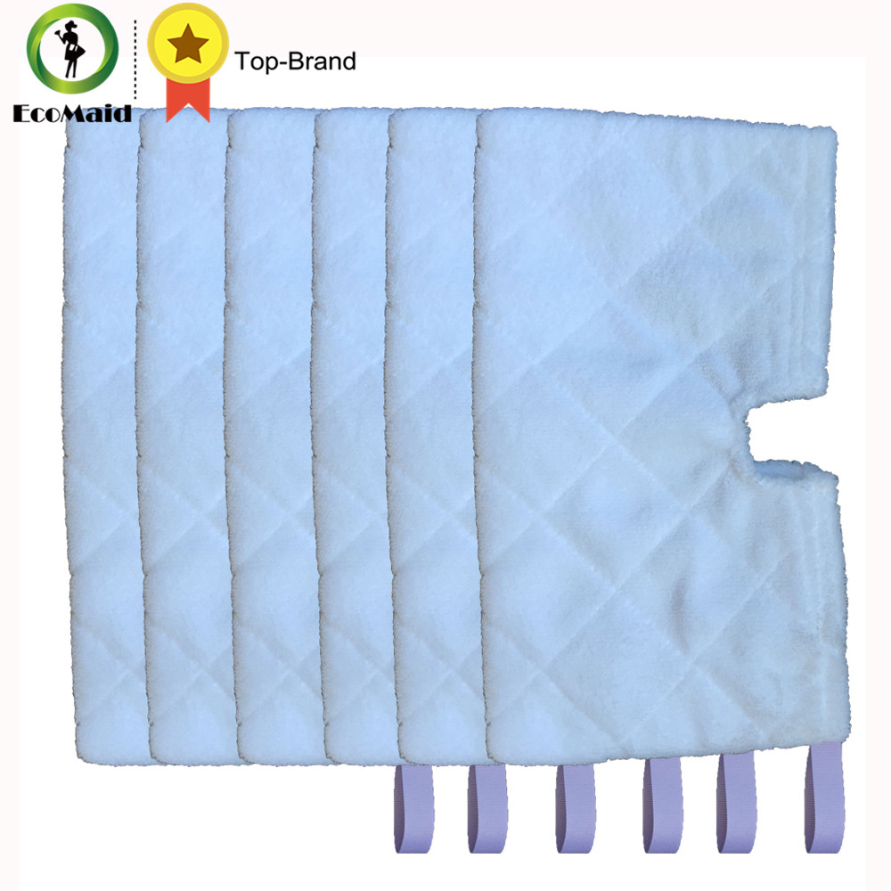 6 pcs Rectangle Mop Shark Euro Pro Pocket Steam Mop Compatible Replacement Pocket Pad Euro Pro Microfiber S3550 S3501 S3601 Sery
