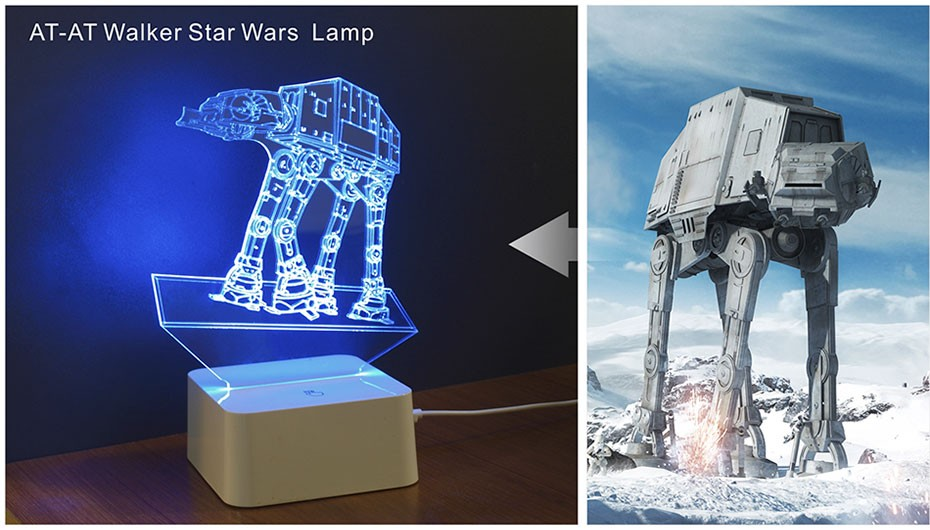 Star was Series Led 3D Night Light 5 light colors available  (4)