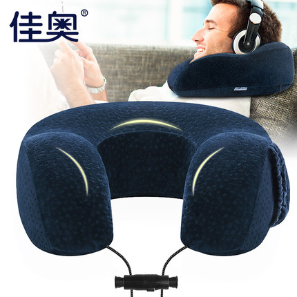 U-Shape Travel Airplane Memory cotton pillow Comfortable neck pillow cervical headrest car nap pillow for Sleep Home Textile the space memory cotton car waist cushion summer pillow headrest backrest