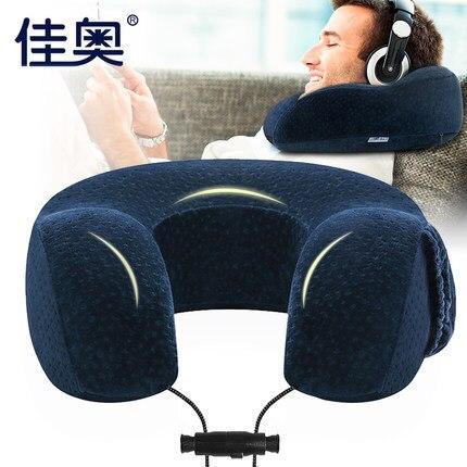 U-shape voyage avion mémoire coton oreiller confortable cou oreiller cervical appui-tête voiture sieste oreiller pour dormir Textile à la maison
