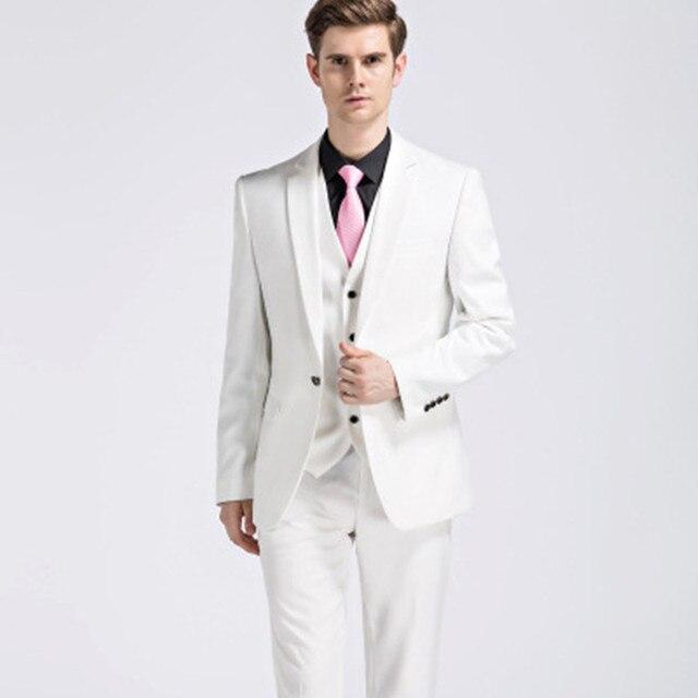 2017 primavera verano terno masculino hombres de negocios slim fit moda traje  de tres piezas 1c8bebdc102