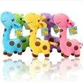2017 Hot Sale 15 cm Presente Bonito Do Girafa de Pelúcia Brinquedo Macio animais Boneca Presentes de Aniversário Colorido Do Miúdo da Criança Do Bebê Transporte da gota HT3042