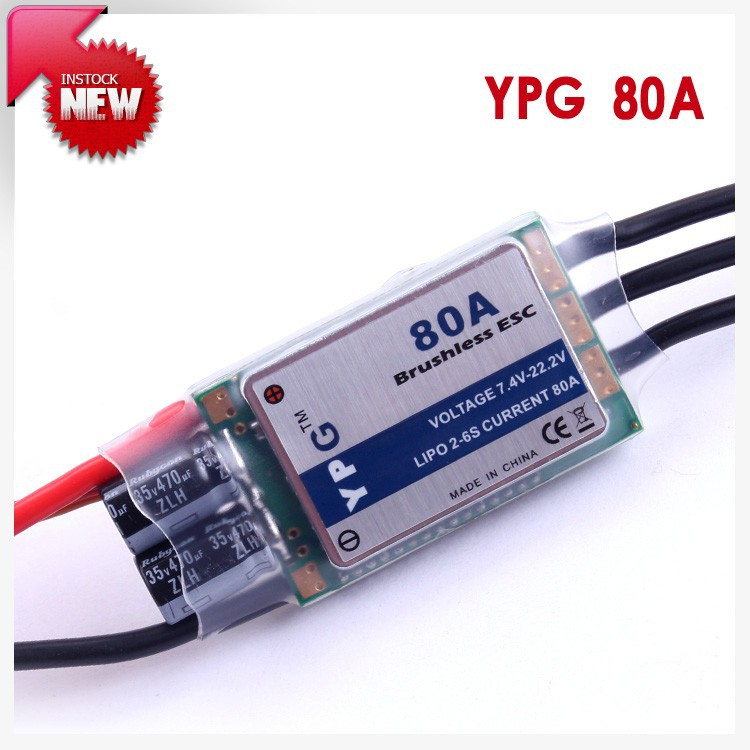 YPG 80A (2~6S) SBEC Brushless Speed Controller ESC High Quality Free Shipping free shipping feike da skyrc toro 8s 150a model car brushless esc electronic speed control