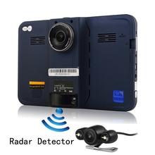 Udricare 7 pulgadas Android de Navegación GPS DVR de Visión Trasera de Doble Cámara 16G Allwinner A33 Quad Core WiFi Cámara de La Rociada GPS Detector de Radar