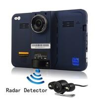 Latest 7 Inch GPS Navigation Android GPS DVR Rear View Dual Camera Radar Detector Allwinner A33