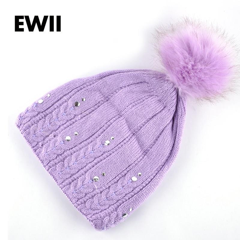 cec76cc2fe71 ̿̿̿(•̪ )Femmes Tricoté Chapeau Mlle Beanie Fille Chapeaux D hiver ...